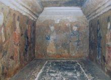 Bohai Zhen Xiao princess in painting in the tomb of Bohai man