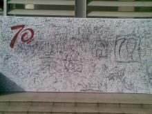 70周年签名墙