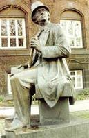 The statue of Hans Christian Andersen