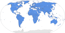 The blue area is the area covered by the United Nations