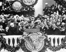 Roosevelt took the oath of office