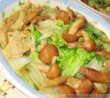 白菜炒滑子蘑