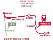 昆明地铁1号线支线运行示意图