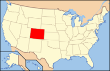 The map location in the United States