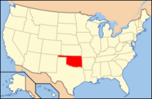 The state's position on a map