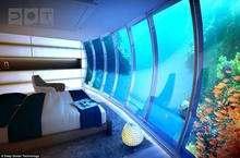 迪拜水下酒店水下房间