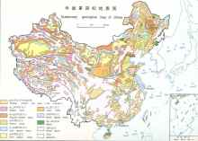 Quaternary geological map