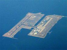 在海中心建造的日本关西国际机场