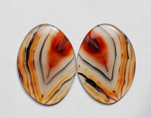 Pictograms agate - Feather