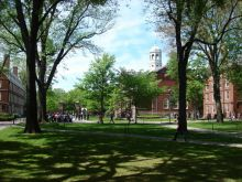 Harvard University founded in 1636: one of the world's most outstanding university
