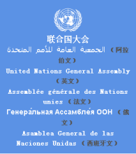 The United Nations General Assembly six official language translation
