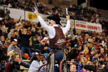 The mascot of New Mexico State University Pistol Pete