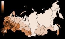 俄罗斯人口密度