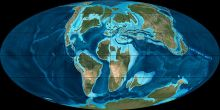 The Cretaceous period of global land distribution