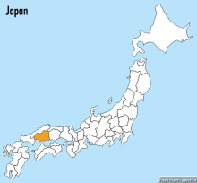 The geographical location of Hiroshima