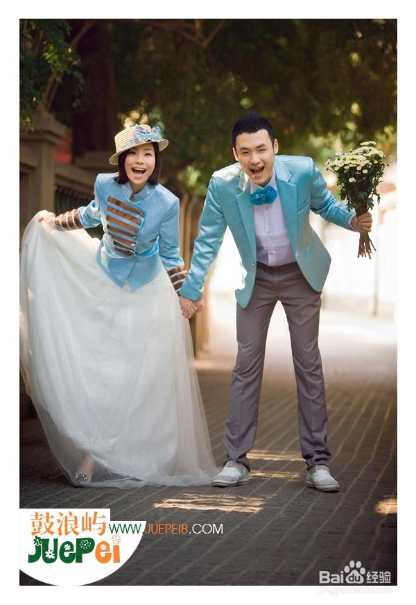 拍婚纱照姿态_街拍婚纱照