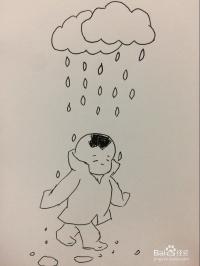 下雨啦 简笔画画法