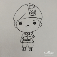 怎么绘画q版的宋钟基卡通简笔画