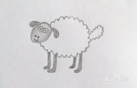 如何画小羊肖恩的简笔画