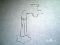 简笔画水龙头放水
