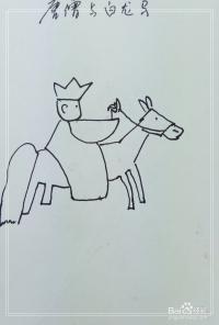 怎样画简笔画 唐僧骑马西天取经