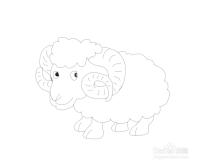 简笔画小绵羊怎么画,怎么画小绵羊
