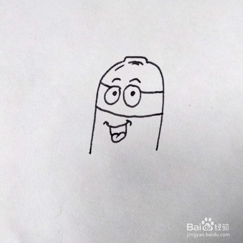 如何画一个卡通版的灭火器简笔画 儿童画教程