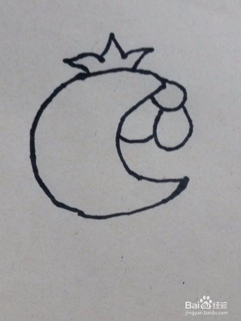石榴简笔画画法