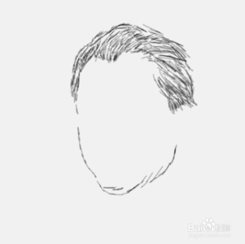 简笔画男性侧面表现手法