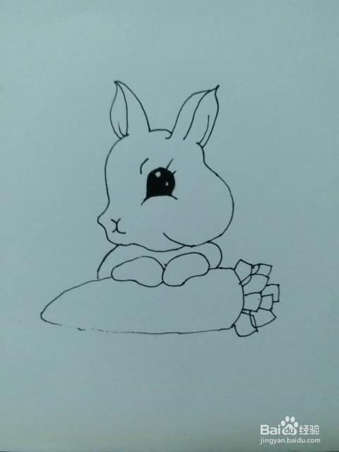 兔子的简笔画3