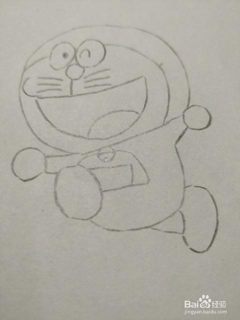 简笔画画机器猫