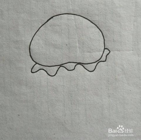 水母简笔画教程