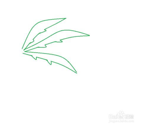 燕子和椰子树的简笔画法