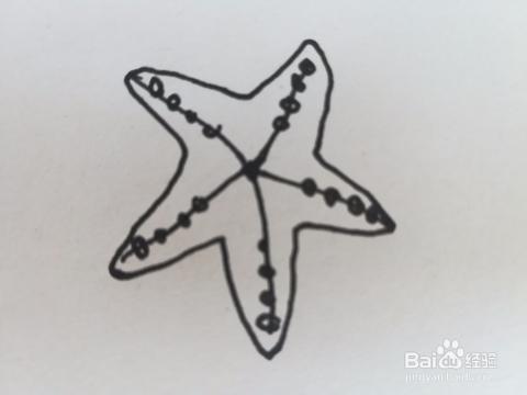 海底世界里海星的简笔画怎么画,步骤图