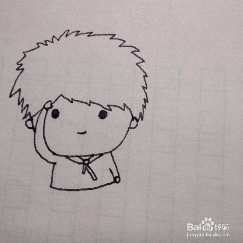 怎么画简单好看的少先队员卡通儿童简笔画
