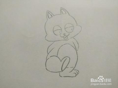 简笔画画卡通小松鼠