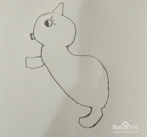 小松鼠的简笔画画法