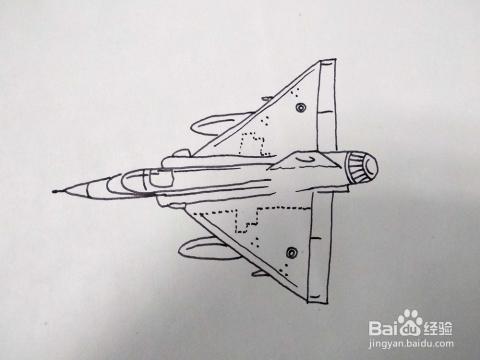 怎么画一架正在高速飞行的战斗机简笔画 速写