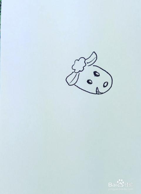 怎样画儿童简笔画 可爱的小绵羊