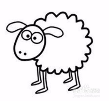 简笔画系列 如何画小羊肖恩