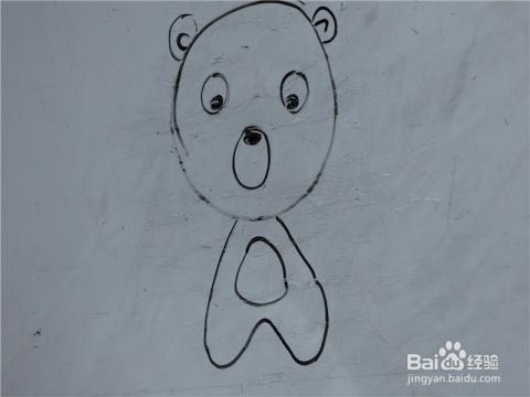 儿童简笔画动物系列之小熊