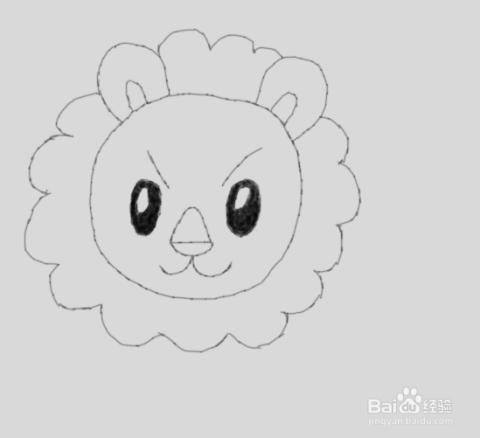 儿童简笔画狮子是怎么画的