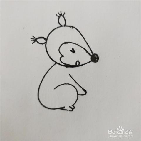 怎么画小松鼠的简笔画