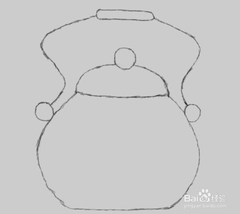 简笔画水壶的画法