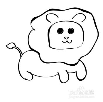 q 版简笔画 小狮子的画法