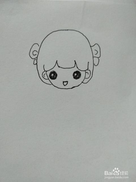 抖音中女孩的简笔画方法
