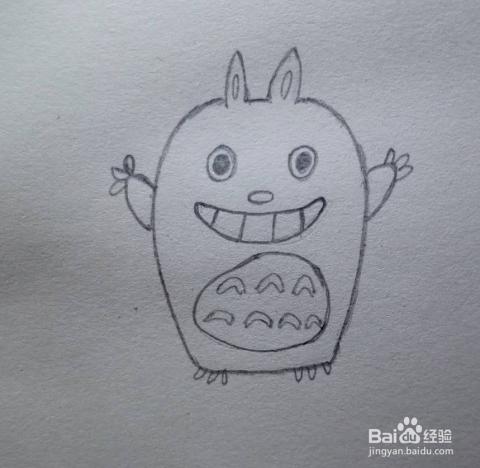 儿童简笔画 怎么画龙猫