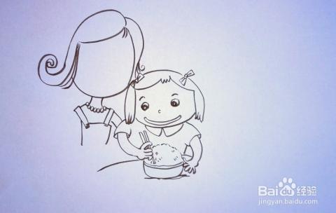 儿童趣味创意画 简笔画 幸福的一家人