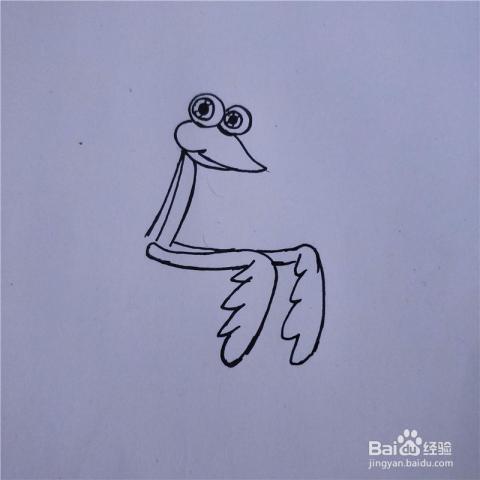 怎么画螳螂的简笔画