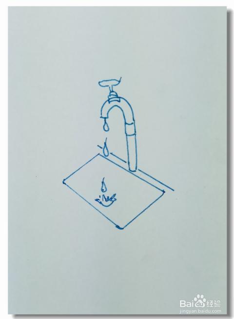 怎样画简笔画 节约用水